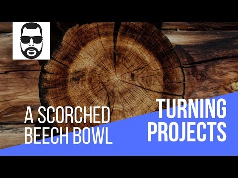 The Blind Wood Turner - Episode 43 - A Textured And Scorched Beech Bowl