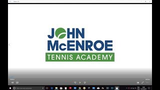 Welcome To The John McEnroe Tennis Academy