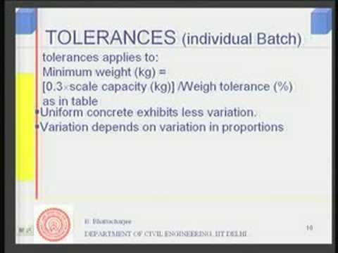 Module 3 Lecture -2 Concrete Production (Contd..)