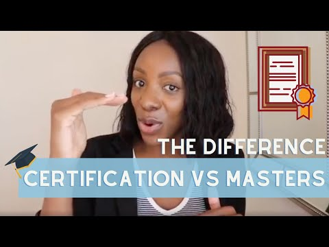 A Certification Can Be Better Than A Masters Degree For Your Career! | Here's the Difference!