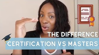 Should I get my Masters or get a Certification? What's the difference? Career Savage has the answers