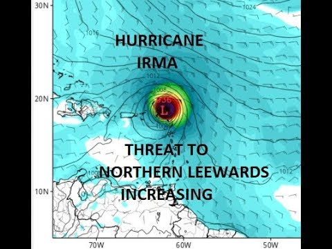 HURRICANE IRMA CATEGORY 3 HURRICANE WINDS 115 MPH THREAT TO LEEWARD & VIRGIN ISLANDS INCREASING