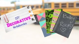 DIY Decorative Notebooks | Back-to-School Supplies Thumbnail