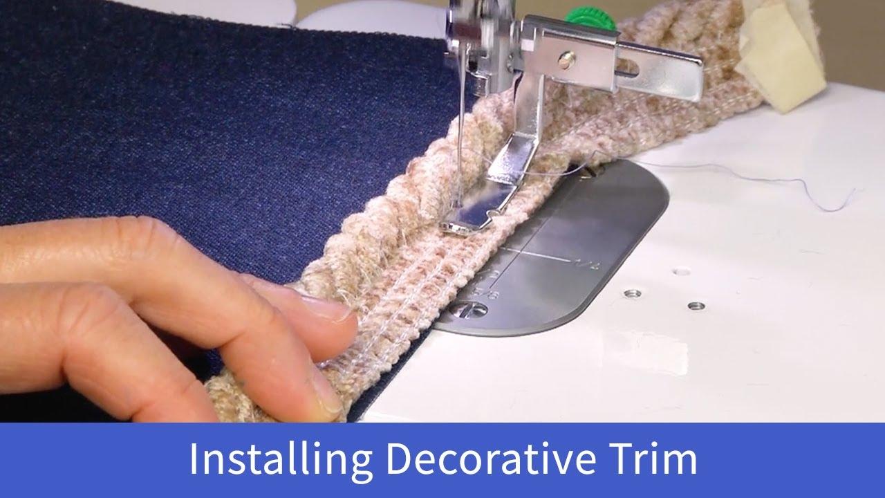Installing Decorative Trim with the Baby Lock Accomplish