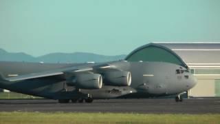 ✈ NATO Boeing C-17A Globemaster III landing & takeoff @ Maribor airport ( MBX/LJMB ) HD ✈