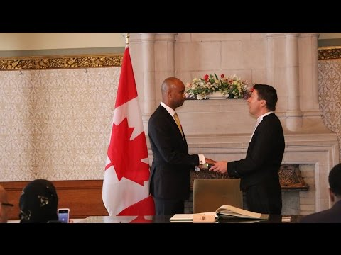 Swearing in ceremony of Ahmed Hussen, MP
