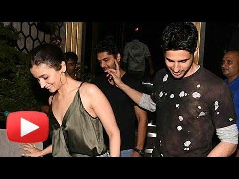 Alia Bhatt and Sidharth Malhotra Party At Gauri Khan's Newly Designed Restaurant ARTH