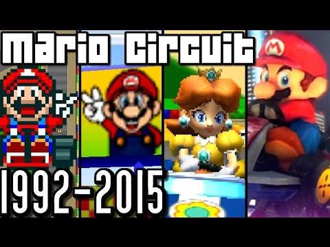 Mario Kart Mario Circuit EVOLUTION 1992-2015 (Wii U, 3DS, N64, SNES)