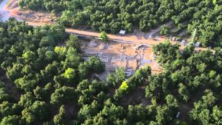 Longer aerial video of Tel Kabri, 2015