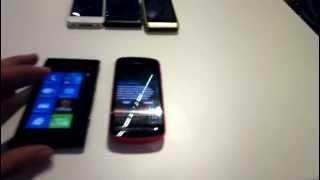 Nokia 808 vs. iPhone 4 , Lumia 800, Lumia 900, Nokia N8 (filmed by 808) - MyNokiaBlog