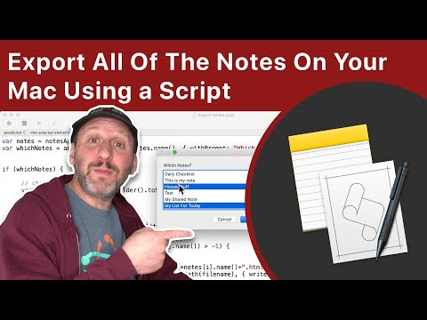 Export From The Notes App Using A Script