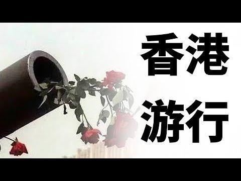 反送中條例,香港11萬人沙田再遊行。槍砲與玫瑰的故事,香港人非暴力抗爭長期化的戰略 (政論天下第35集 20190714)天亮時分