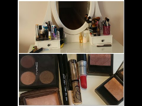 Part A: Vanity set up and makeup collection 2014