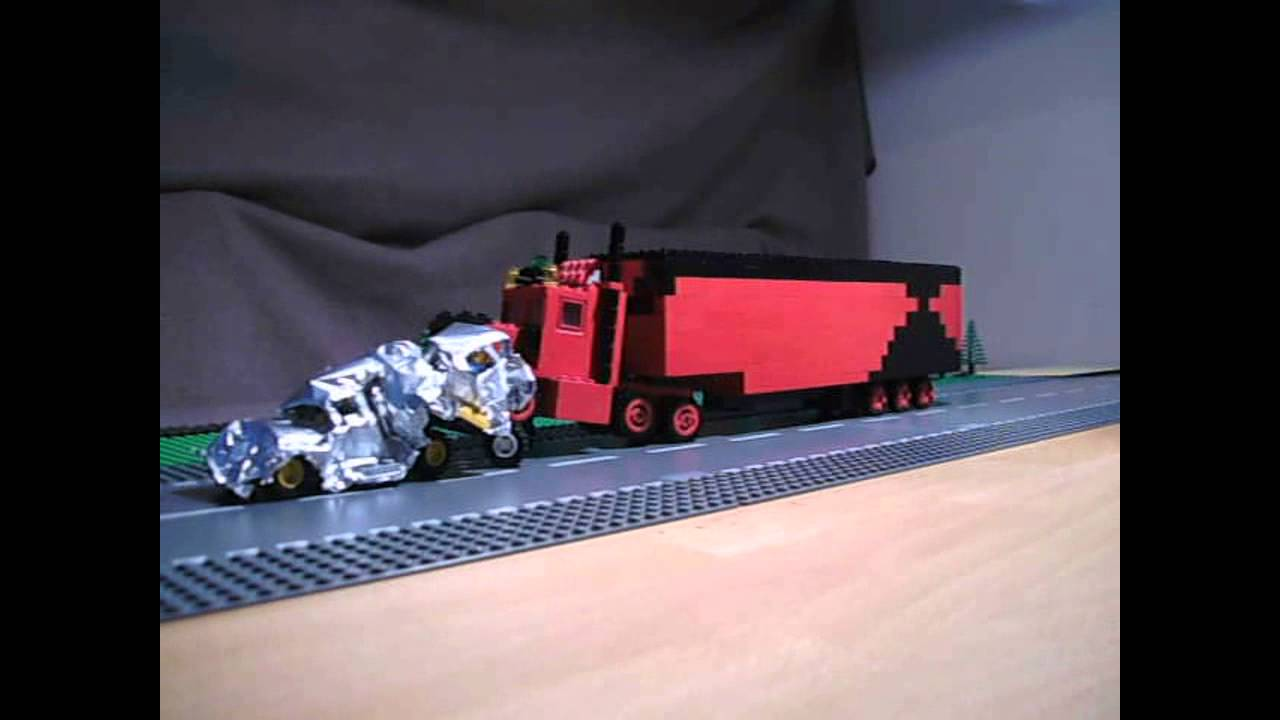 Lego Kenworth Truck Rast In Stauende Unfall Truck Crashes Cars