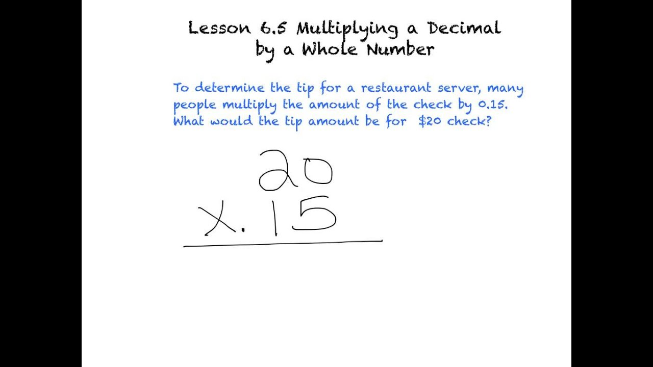 How To Multiply A Whole Number By A Decimal Scalien – Multiplying Whole Numbers and Decimals Worksheets