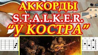 Сталкер Аккорды ♪ Разбор на гитаре 🎸 Музыка У Костра ♫ Табы Мелодия песни