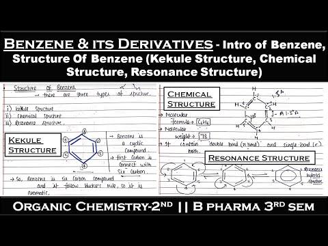 Benzene and its derivatives   L-1   Unit-1  Organic Chemistry 2   B.pharma 3rd sem   Carewell Pharma