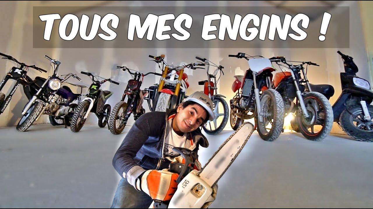 TOUTES MES MOTOS & UNBOXING TRONÇONNEUSE ! #FAQ