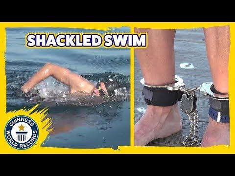 Fastest 5 km shackled swim - Guinness World Records
