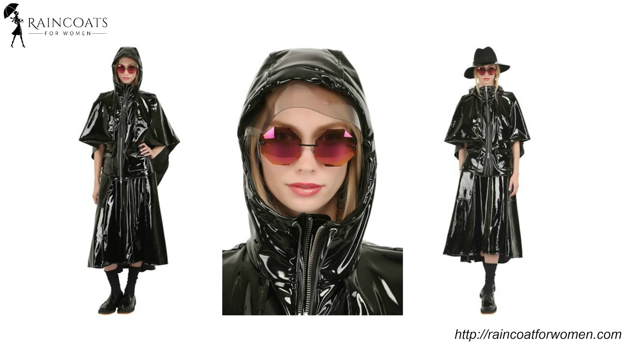 2019 factory price outlet sale best Womens Shiny Raincoat