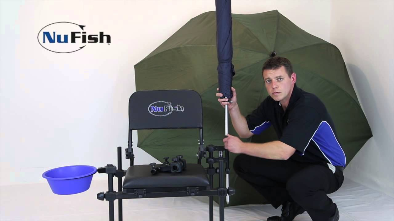 Fishing Chair Clamps Adirondack Chairs Plans Umbrella Double Brolly Clamp Power Spike Plus Youtube