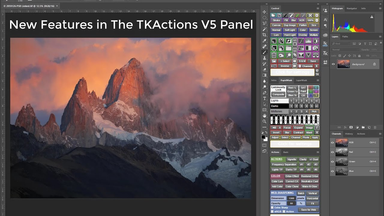 TKActions V5: The next step in luminosity masks (discount