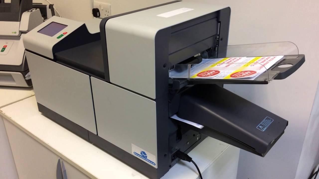 neopost ds63 1 station folder inserter envelope stuffer youtube
