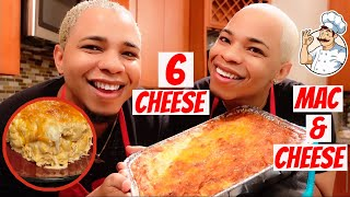 HOW TO MAKE OUR SPECIAL 6 CHEESE BAKED MAC AND CHEESE   IN DI KITCHEN WITH BADDIETWINZ