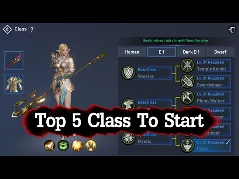 Lineage 2 Revolution Top 5 Class To Start Play