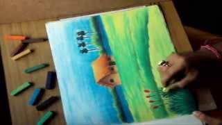 How to Draw a Scenery with Soft Pastels PART-2