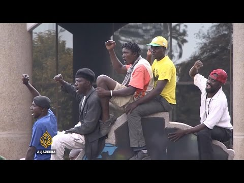 Mugabe's supporters rally against Zimbabwe protests
