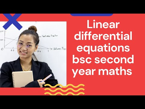 Linear differential equations(in hindi) || bsc second year maths