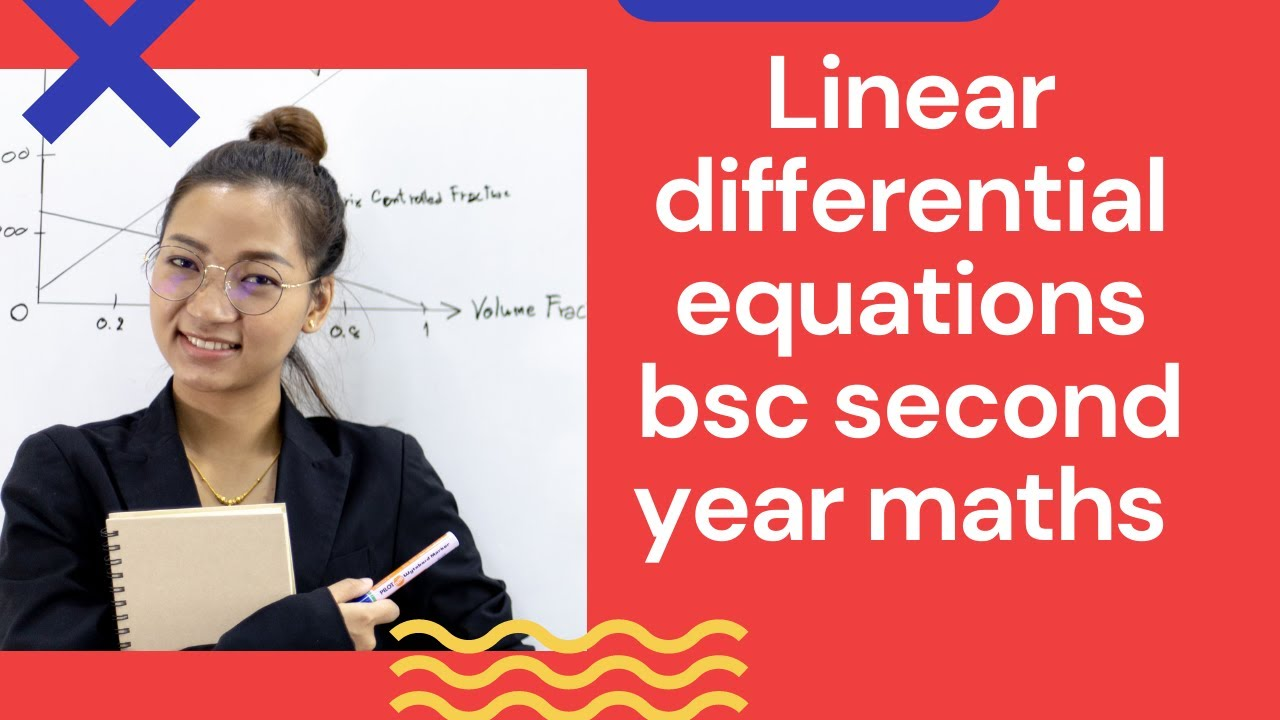 Linear differential equations(in hindi) || bsc second year maths | first  order degree mathematics