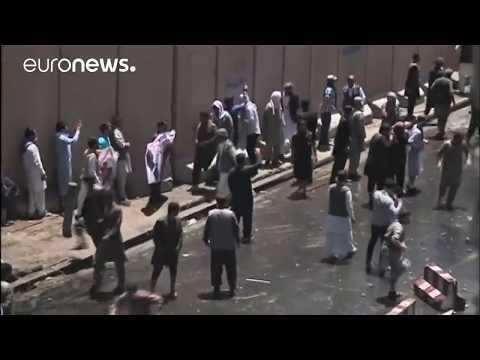 تظاهرات و درگیری های شدید در کابل پایتخت افغانستان
