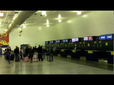 East Midlands Airport - inside the terminal