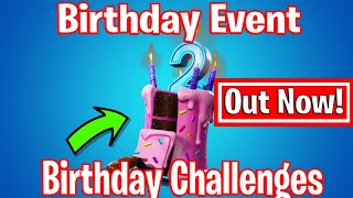 Fortnite 2nd Birthday Bash Event - Free Wrap, Harvesting Tool, Music Pack & More - Fortnite