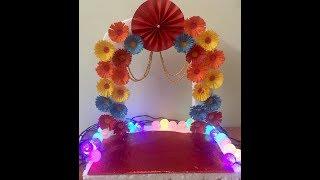 Ganapati makhar at home/Ganesh Pooja decoration/Ganpati Makhar decoration -  YouTube