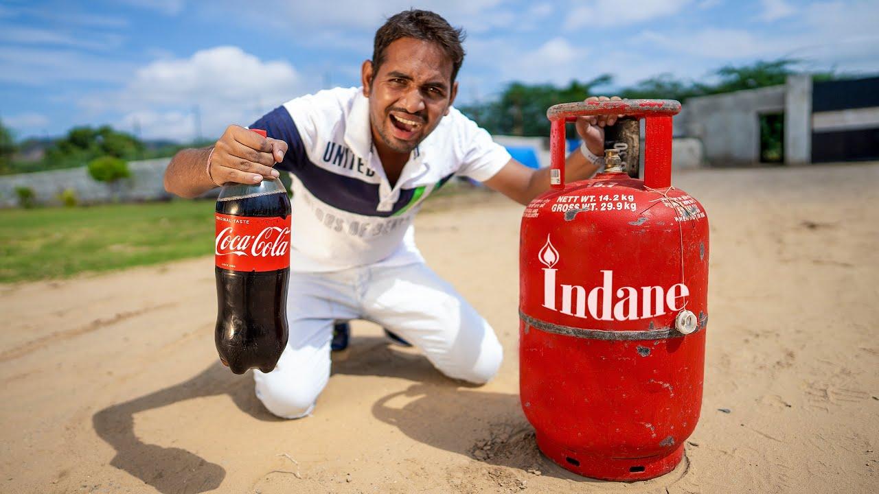 Don't Mix LPG Gas In Coca Cola