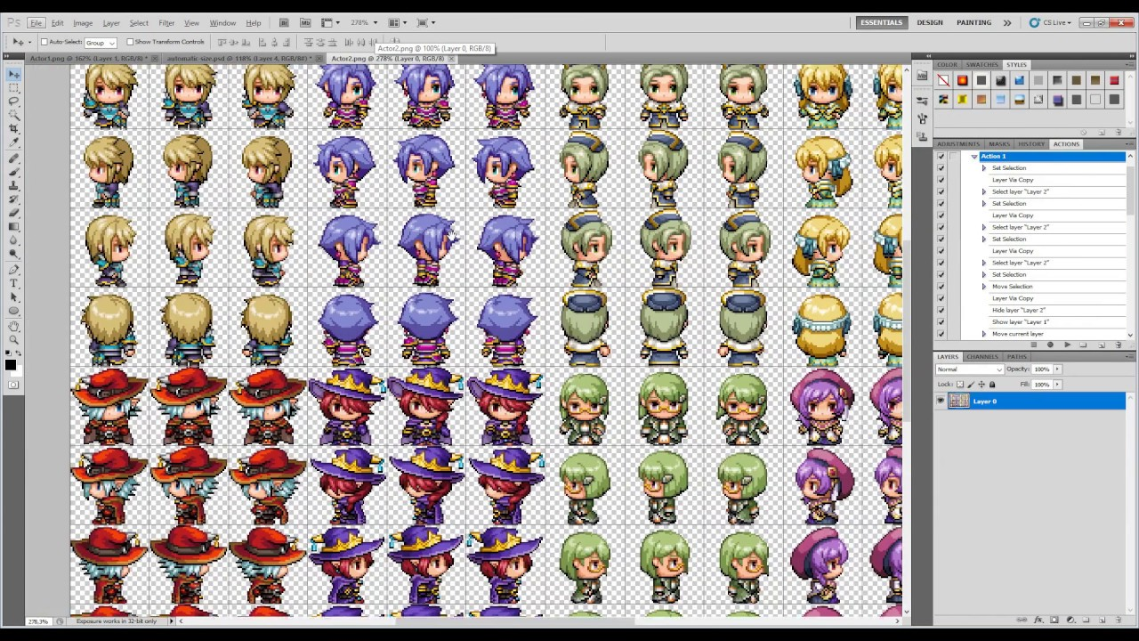 game maker templates download - automatic size sprites rpg maker mv youtube