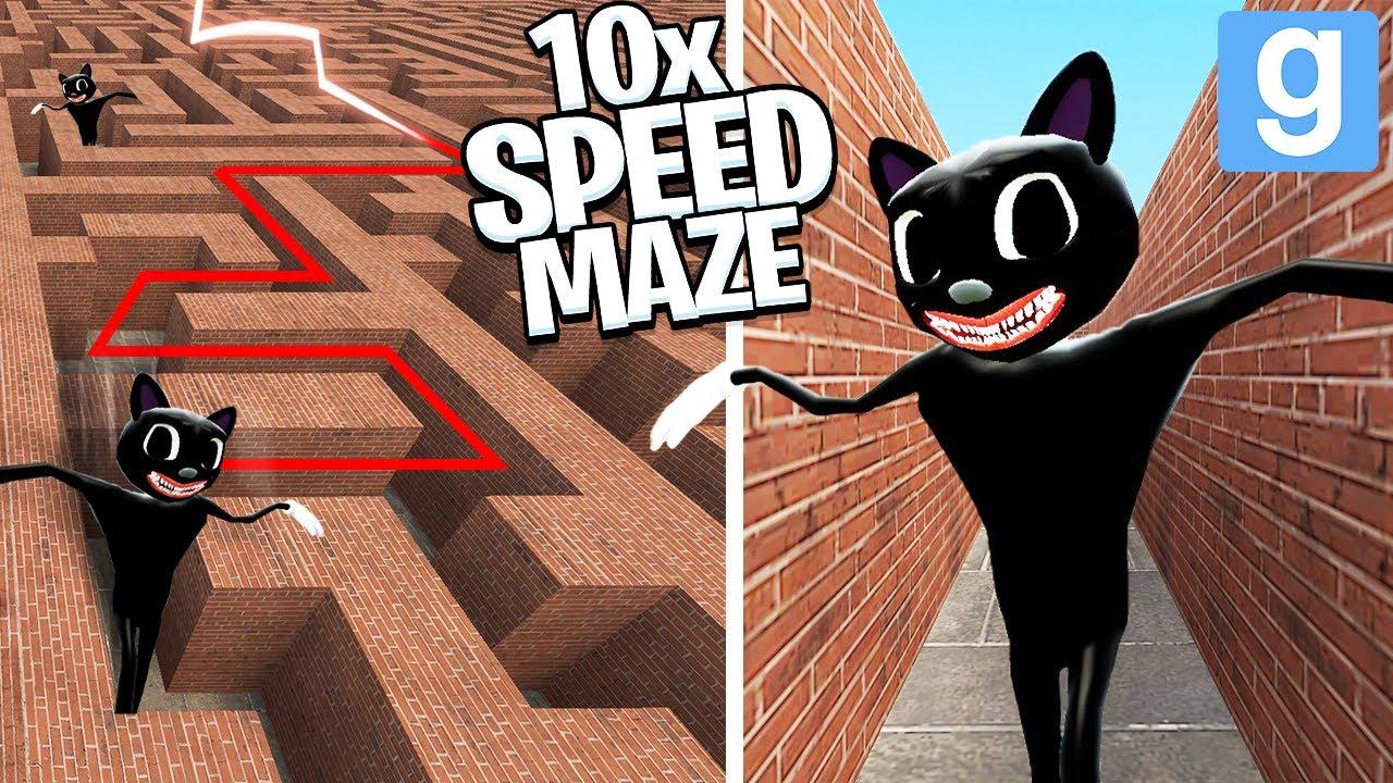 Download Cartoon Cat... but 10x FASTER in a MAZE! (Garry's Mod Sandbox) | JustJoeKing