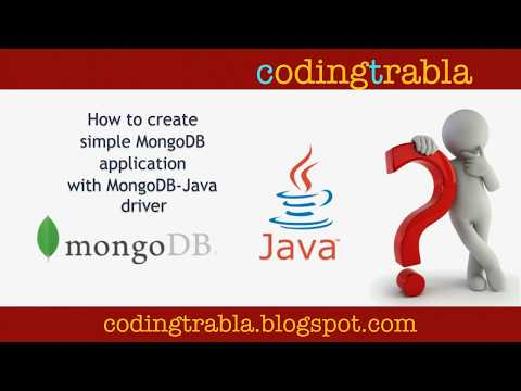 How to create simple application with Java MongoDB Driver