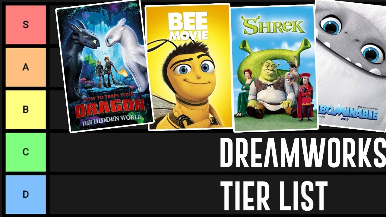 dreamworks animation movies tier list  ranked
