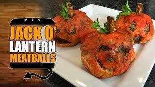 Giant Jack-o-lantern Meatball Recipe - Hellthyjunkfood