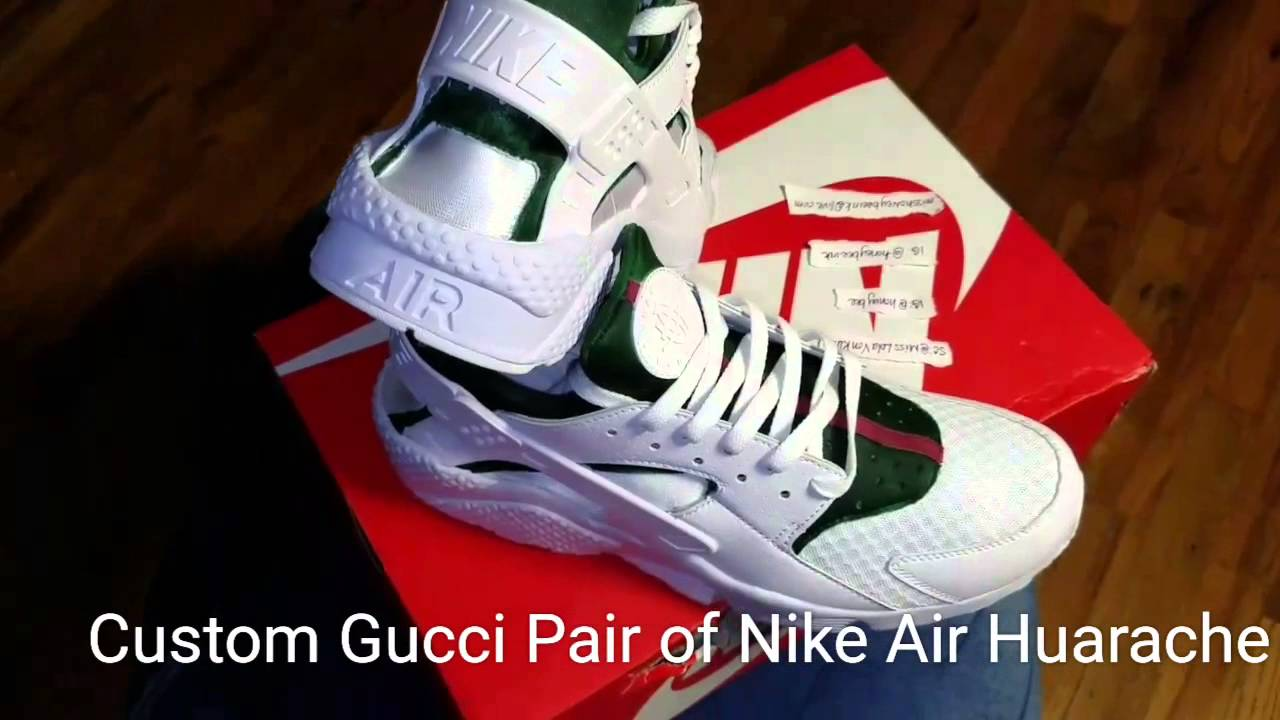 e091a23db51a ... Custom Gucci Pair of Nike Air Huarache - YouTube . ...