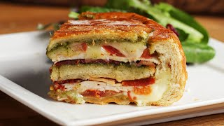 12 Layer Turkey Pesto Panini Bread Bowl