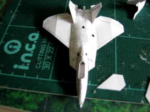 F 22 Raptor >> How to make F-22 Raptor paper plane part V - YouTube