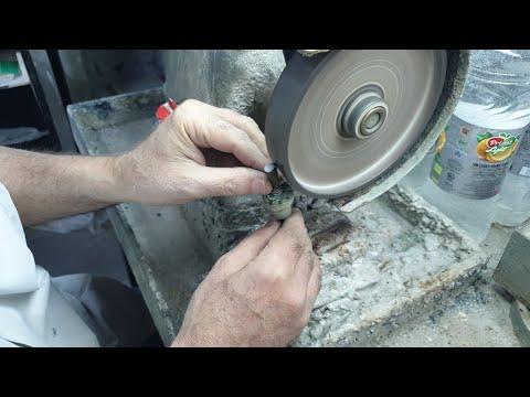 ליטוש אבן ספיר/Sapphire Stone Cut/Огранка камня сапфир