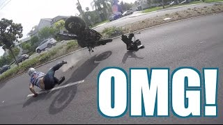 Violent Motorcycle CRASH!