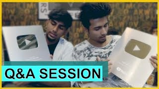 First Q&A Session | Rajneesh Patel and Dhruvan Moorthy | Silver Play Button Unboxing