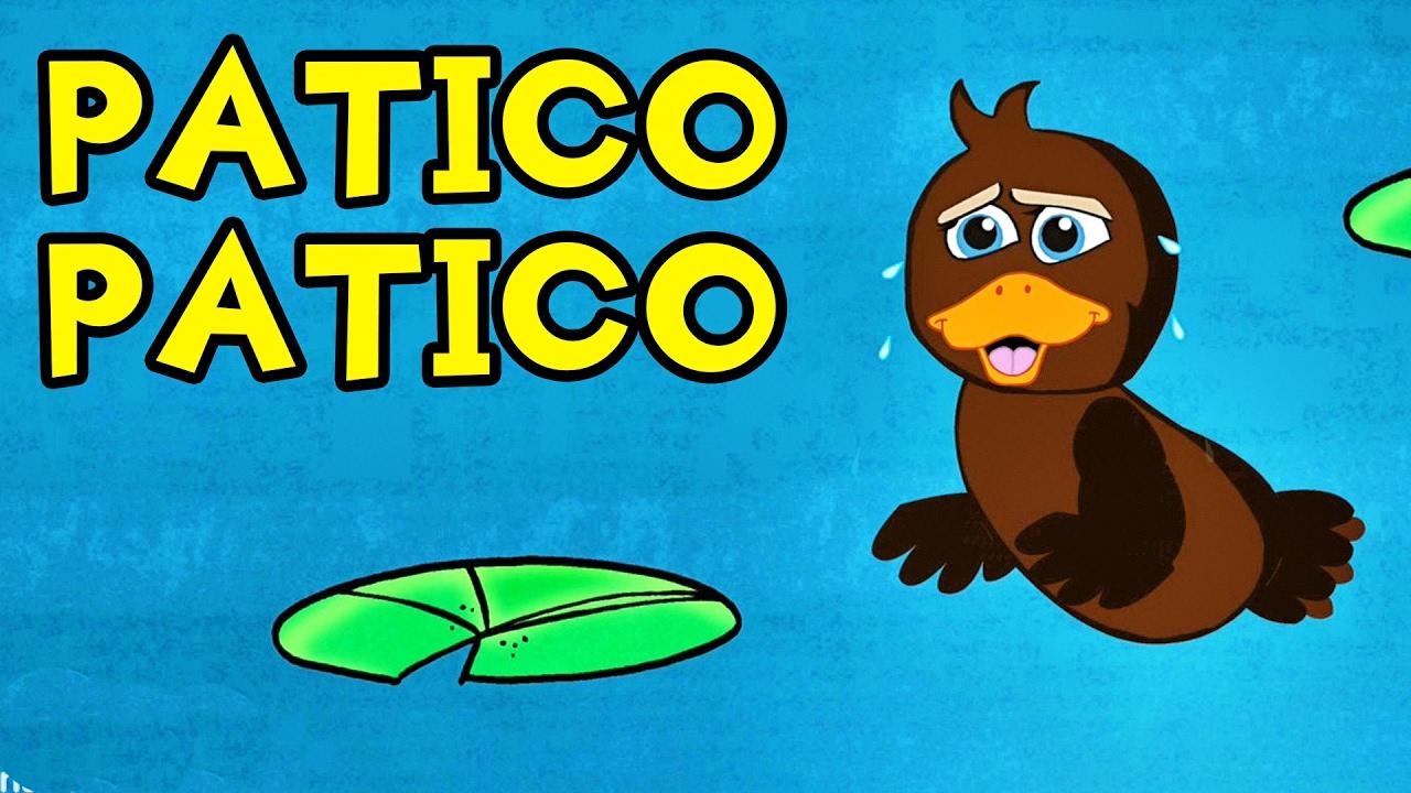 PATICO PATICO COLOR DE CAFE - (canción infantil) - Videos para Niños en Español #